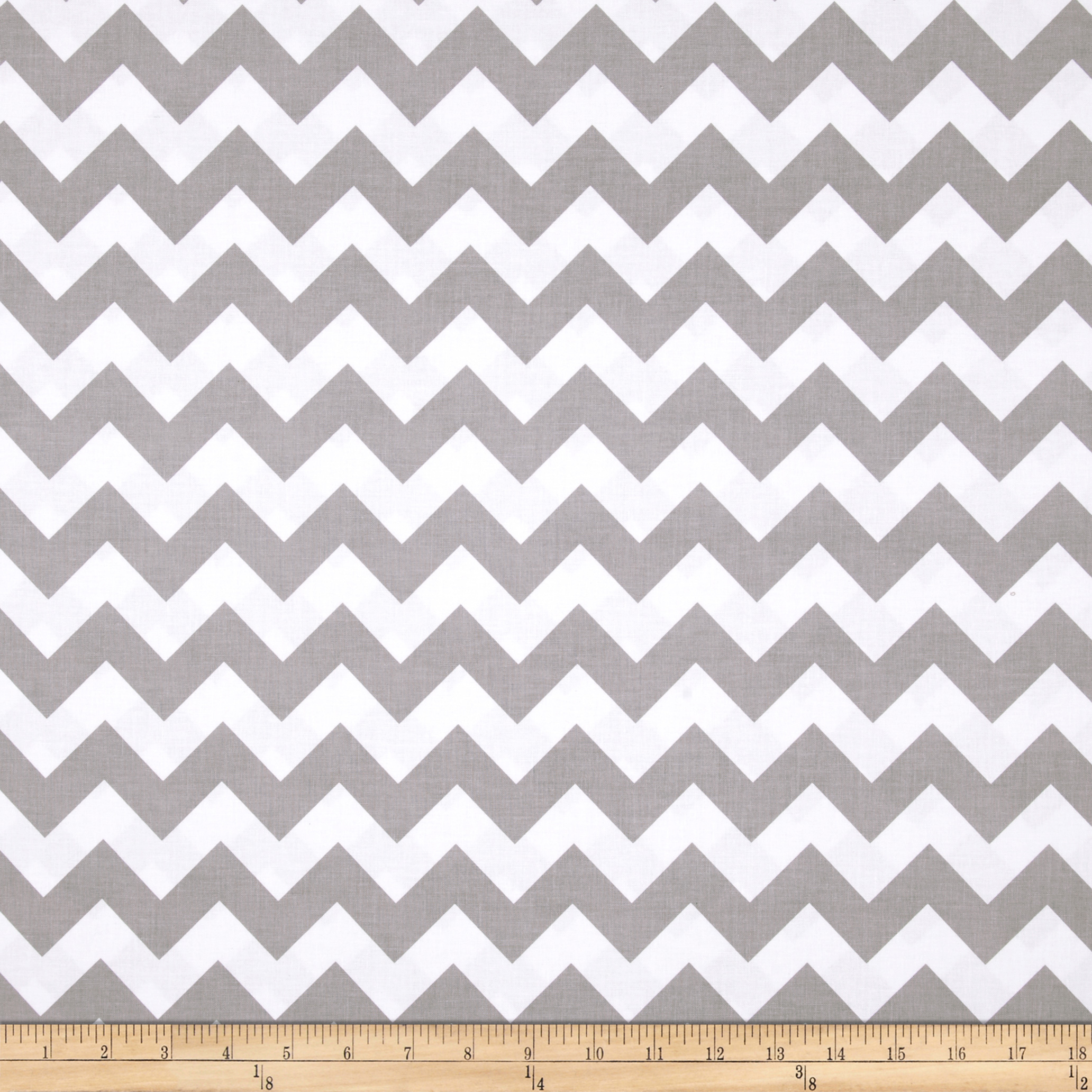 Riley Blake Wide Cut Chevron Medium Gray