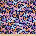 Painted Wings Butterflies Navy