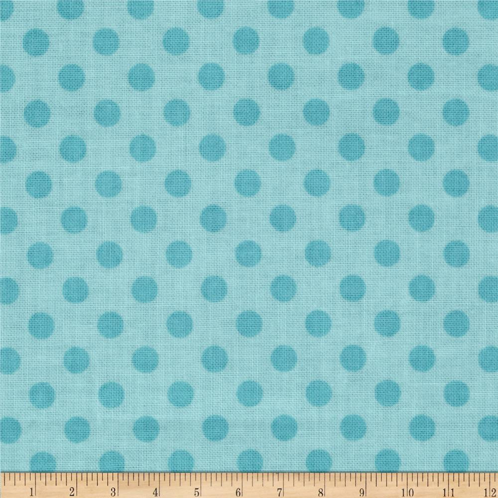 Riley Blake Basics Small Dots Aqua