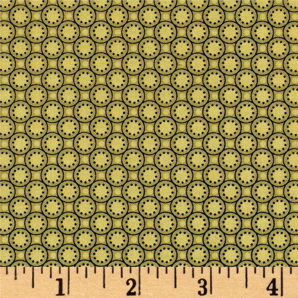 Medallion Muse Small Buttons Mustard Green