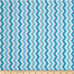 Flamingo Road Chevron Light Blue