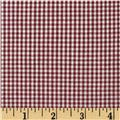 Gingham 1/16'' Checks Galore Burgundy