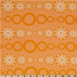 Winterkist Snowflakes and Chains Stripe Orange
