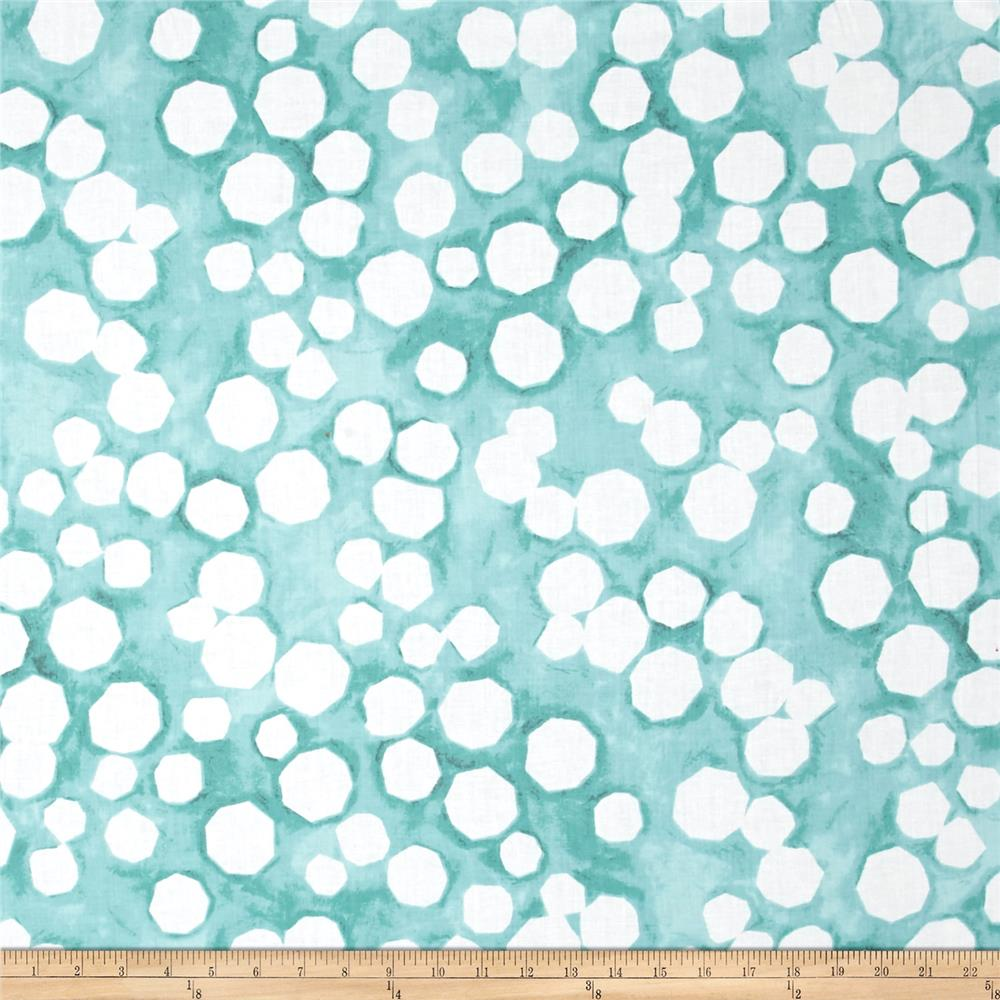 "Kaufman Black & White 108"" Wide Big Dots Sage"
