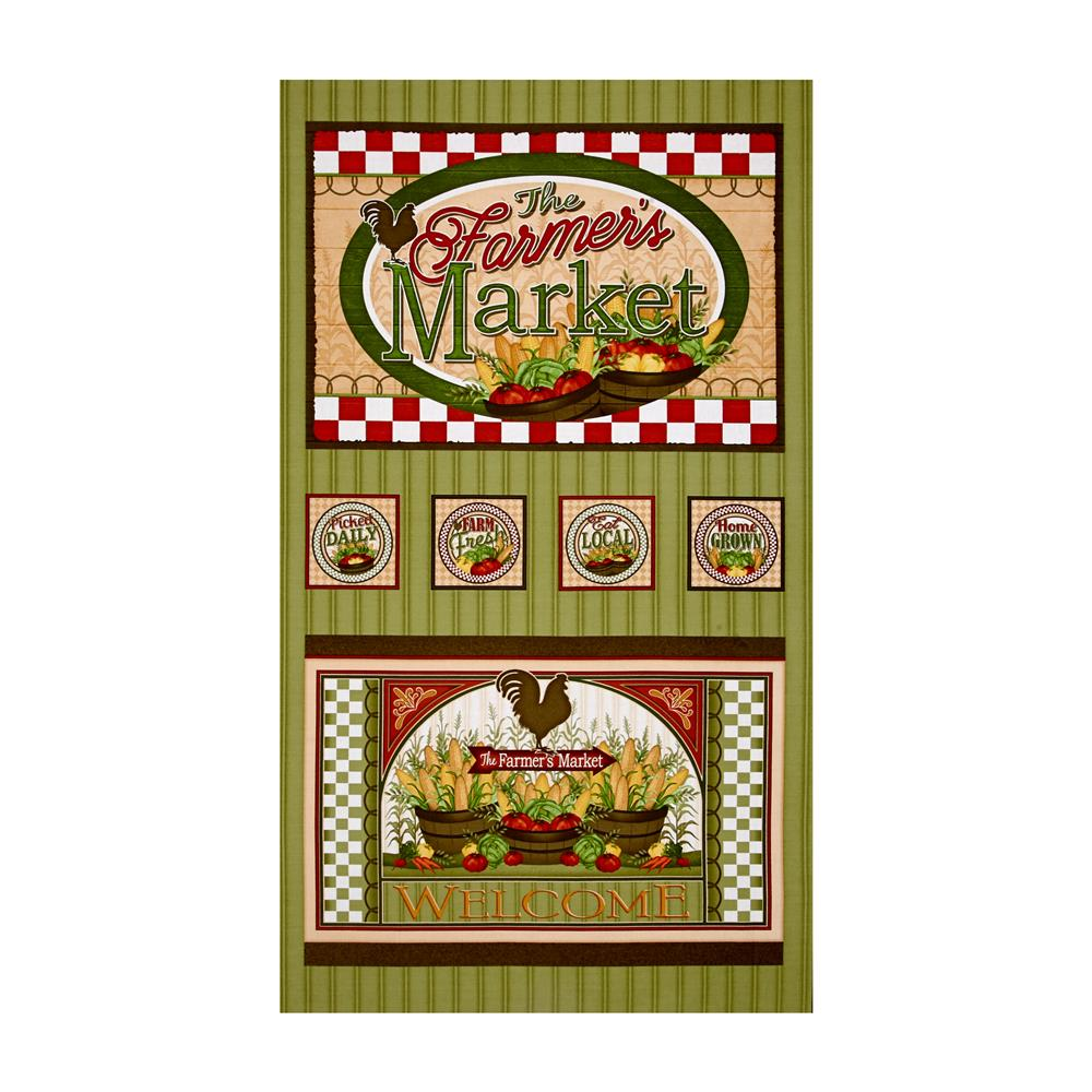 Farmer's Market 24'' Panel Sage Fabric