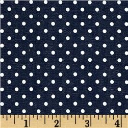 Chambray Dots Dark Navy