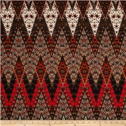 ITY Knit Aztec Deep V Orange/Brown/Beige
