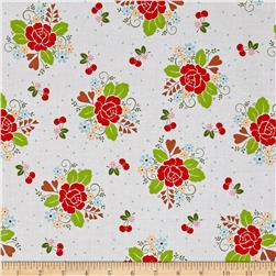 Riley Blake Sew Cherry 2 Main White