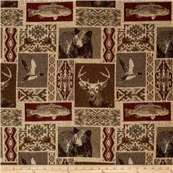 Regal Mountain View Cabin Patch Chenille Jacquard Spice