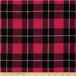 Flannel Plaid Fuschia/Black