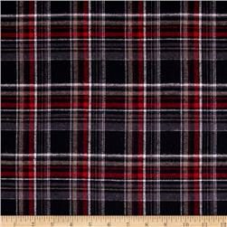 Yarn Dyed Flannel Plaid Black