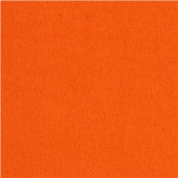 Kaufman Flannel Solid Tangerine Fabric