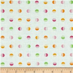 Moda Brighten Up! Half Dot Up Pink/Orange