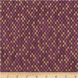 Narumi Metallic Abstract Check Rose/Gold Fabric