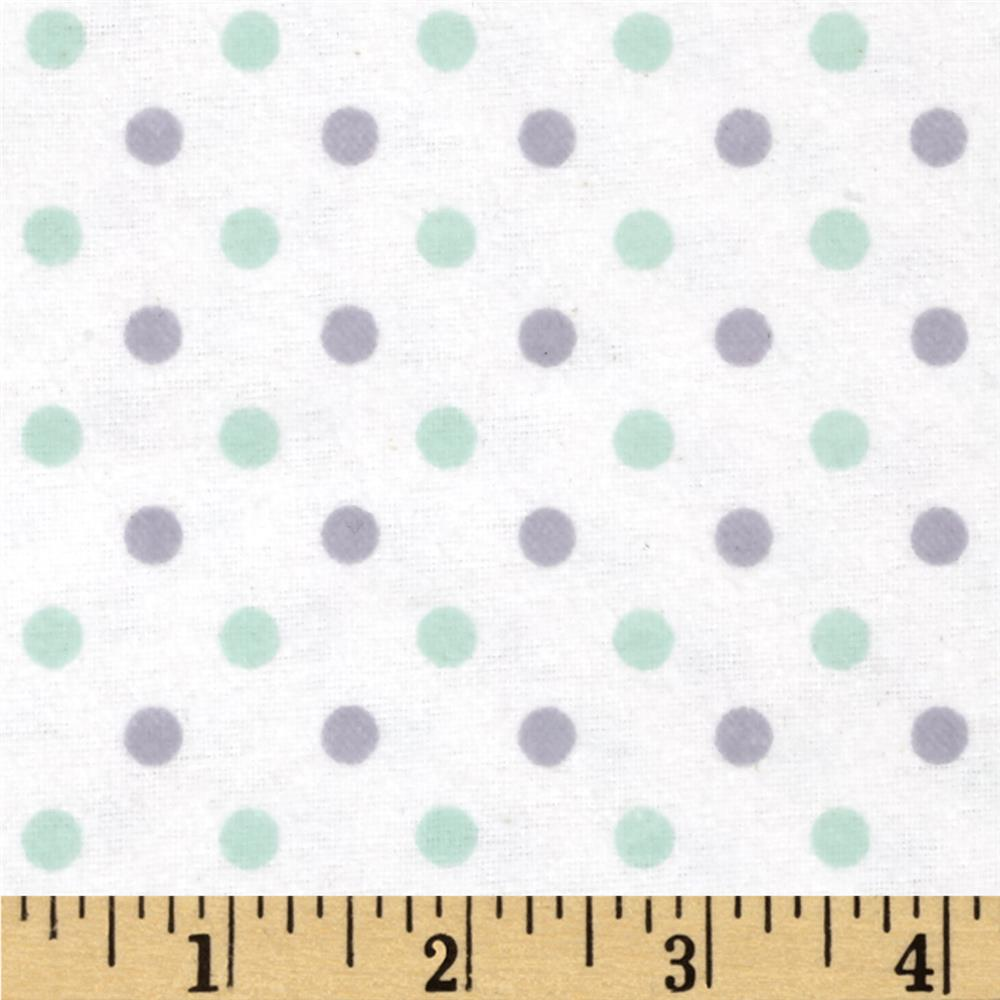 Flannelland Simply Dots Sea Foam/Grey
