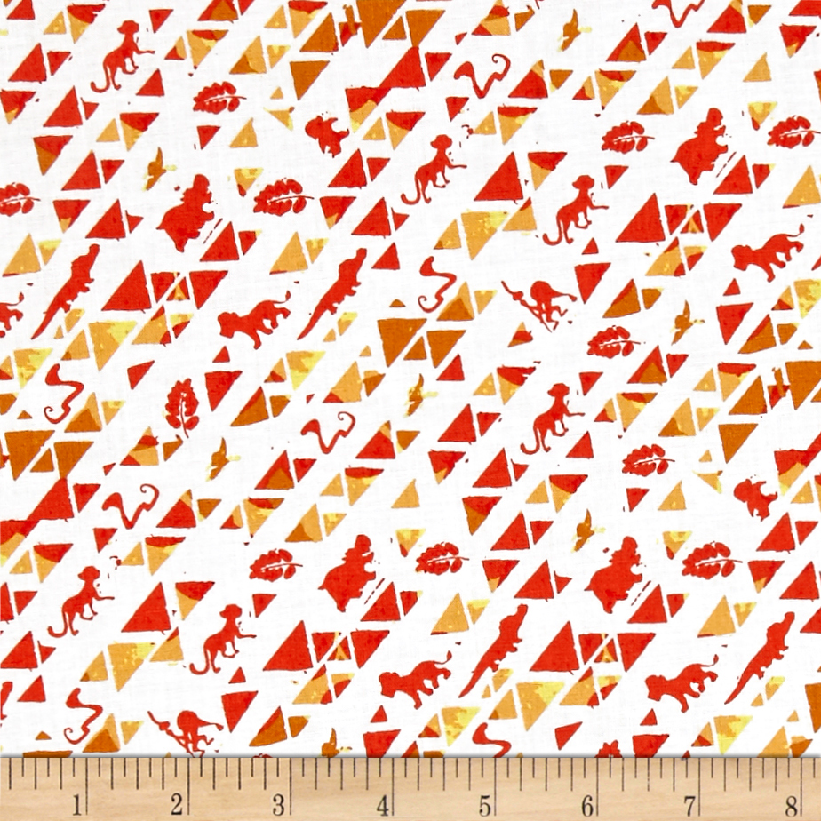 Disney Lion Guard Triangles Orange Fabric by Eugene in USA