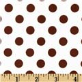 Minky Minnie Dots White/Brown