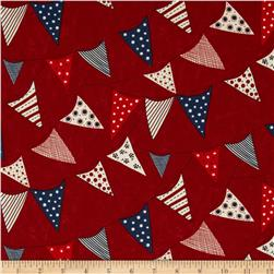 Moda Red, White & Free Buntings Red