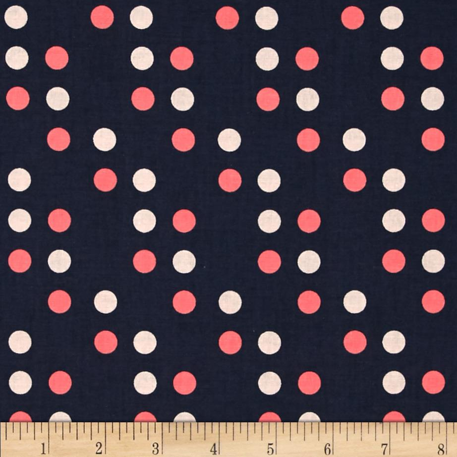 Cotton + Steel Lucky Strikes Dime Store Dot Navy