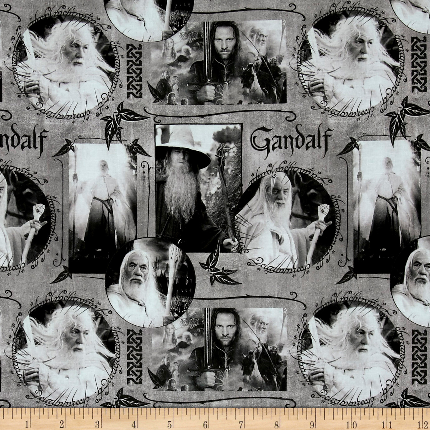 Lord of the Rings Gandalf Grey Fabric
