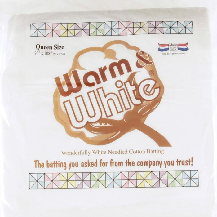 Warm & White Cotton Batting (90'' x 108'')