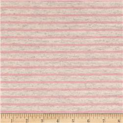 Jersey Knit Pink Mini Stripe on Oat