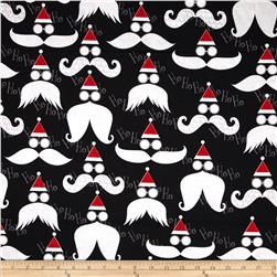 Kanvas Winter Novelty Ho Ho Ho Glitter Black