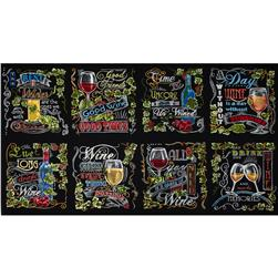 Robert Kaufman Vineyard Wine Blocks Multi