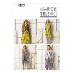 Vogue Misses' Dress and Jacket Pattern V8975 Size 0Y0