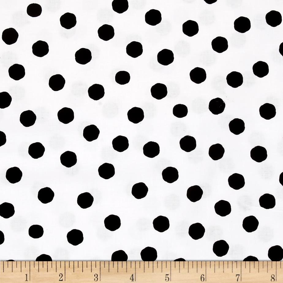 Loralie Designs Jumbo Dots White Black