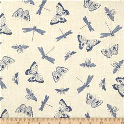 Indigo Nature Insect Toile Cream