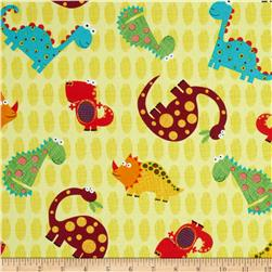 Stomp Tossed Dinosaurs Yellow