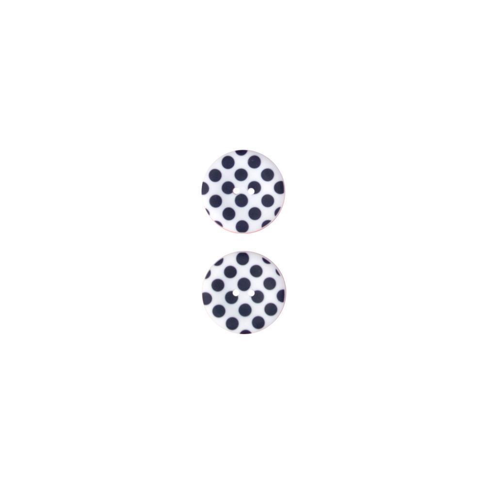Riley Blake Sew Together 1 1/2 Matte Button Dots Navy