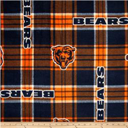 NFL Fleece Chicago Bears Plaid  Blue/Orange