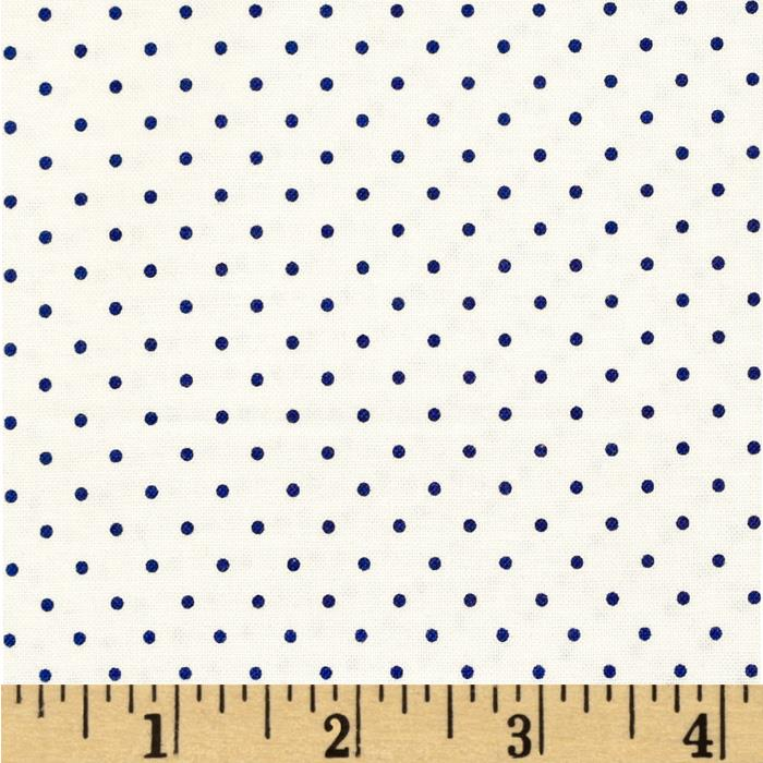 Riley Blake Swiss & Dots White/Navy