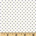 Riley Blake Swiss Dots White/Navy