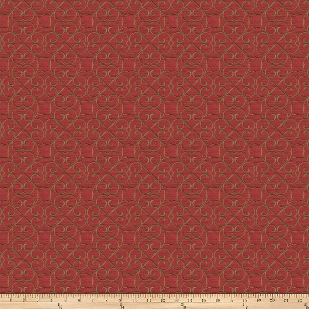 Fabricut Royal Scroll Jacquard Fire