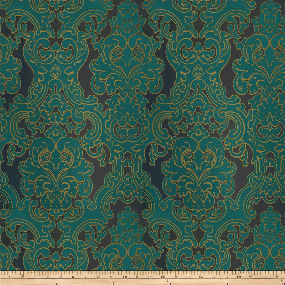 Fabricut Del Toro Grand Faux Silk Peacock