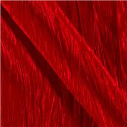 Crushed Taffeta Red Fabric