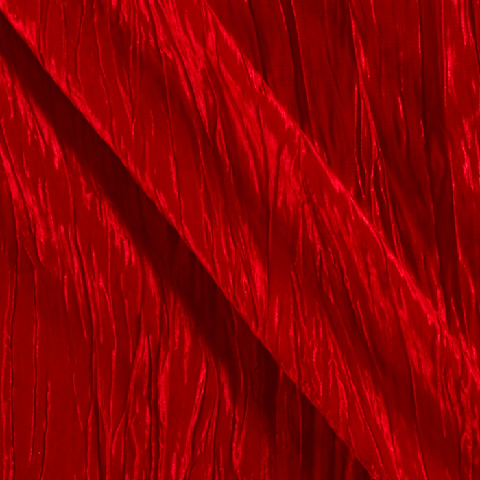 Crushed Taffeta Red