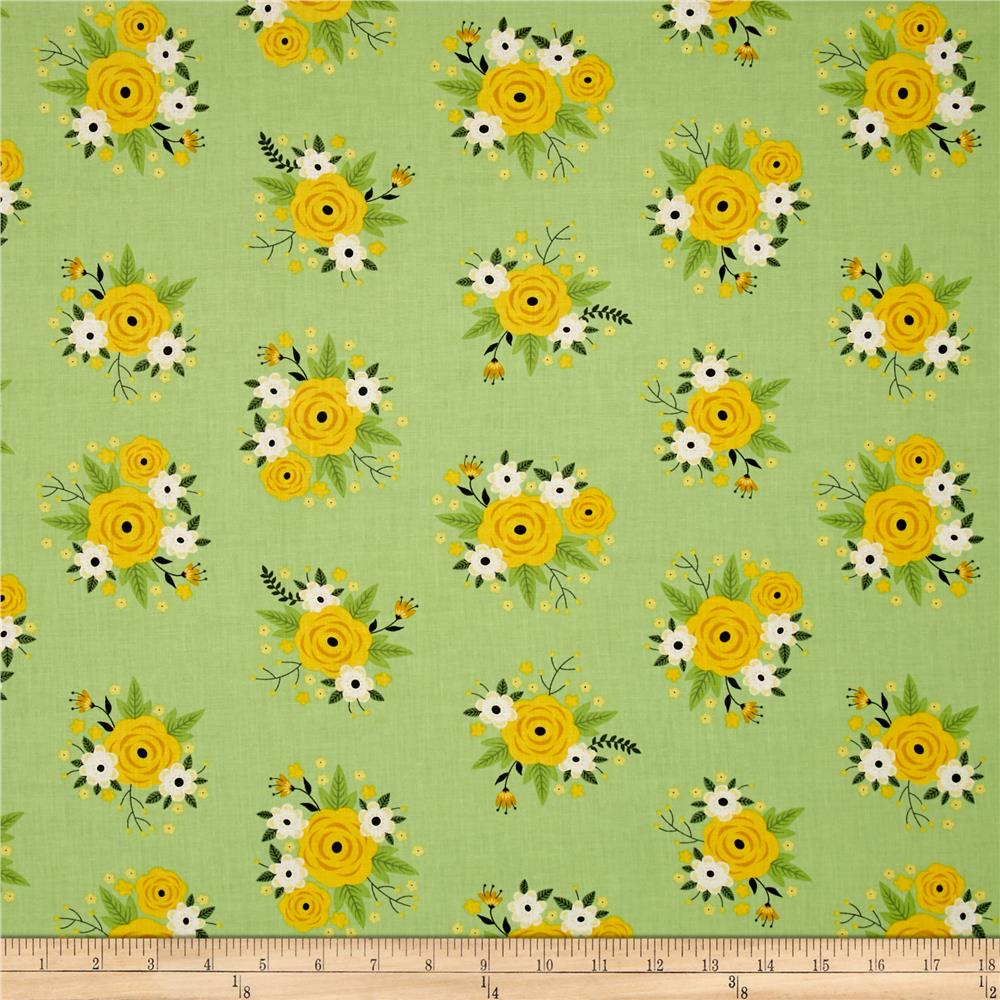 Bright Side Floral Pistachio