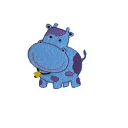 Cow Applique Blue