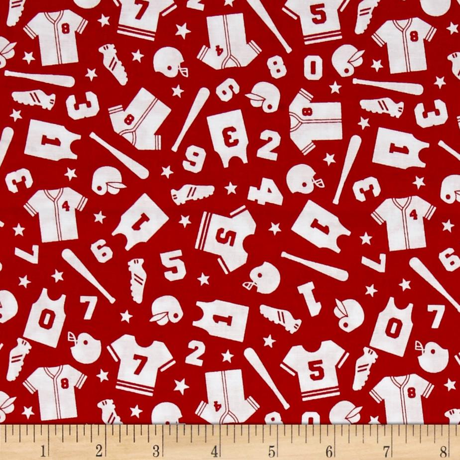 Riley Blake Play Ball 2 Uniform Red