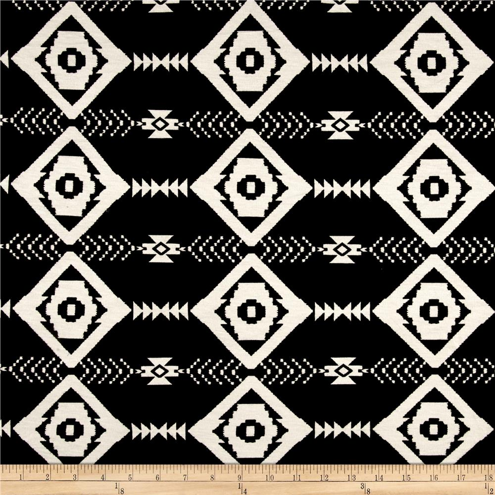 Aztec Dash Jersey Knit Black/White
