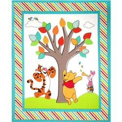 Disney Pooh And Friends Nursery 36'' Panel Multi
