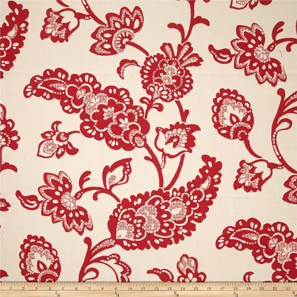 Waverly Williamsburg Pelham Pomegranate Jacquard Jewel