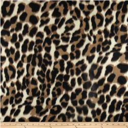 Fleece Print Jungle King Tan