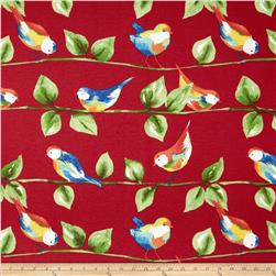Richloom Solar Outdoor Curious Birds Berry
