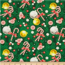 Season's Greetings Ornaments & Peppermint Green