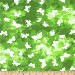 Aunt Polly's Flannel Butterfly Green